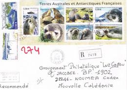 TAAF Terres Australes Antarctiques Port Aux Francais Kerguelen Bloc Feuillet Otarie Amterdam Navire 2010 BE - Blocs-feuillets