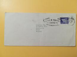 1971 BUSTA IRLANDA EIRE IRLAND BOLLO ARTE ART PRIMITIVA HISTORIC OBLITERE' PORTLAIRGE ETICHETTA - Storia Postale