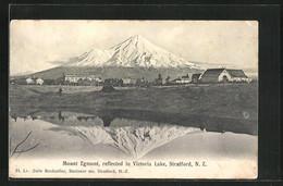 AK Stratford, Mount Egmont Reflected In Victoria Lake - New Zealand