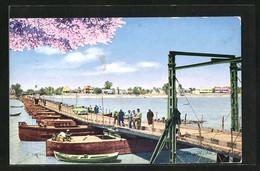 AK Bagdad, Automobil Auf Der Schiffbrücke - Iraq