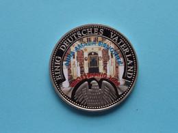 EINIG DEUTSCHES VATERLAND ( ANNA AMALIA Bibliothek Gross Brand 2004 ) 28 Gram / 40 Mm. ! - Souvenir-Medaille (elongated Coins)