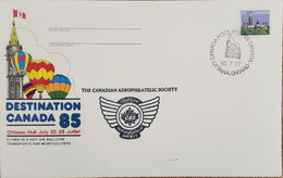 A) 1985, CANADA, PARLIAMENT BUILDINGS, OTTAWA, THE CANADIAN AEROPHILATELIC SOCIETY, XF - Cartas