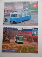 2 PCs Ukraine Vinnytsia And Zhytomyr Trams Modern PC - Tranvía