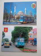 2 PCs Ukraine Yevpatoria And Konotop Trams Modern PC - Tranvía