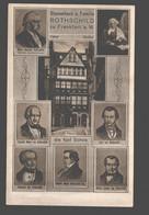 Stammhaus U. Familie Rothschild Zu Frankfurt A. M. - Frankfurt A. Main