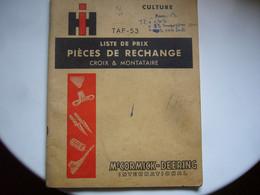 """International Harvester  ( IH   Ou  La """" CIMA """")   Croix (59) Et Montataire (60)   Catalogue 1953 - Unclassified"""