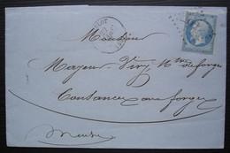 Andelot 1867 Gc 92 (Haute Marne) Forges De Rimaucourt, F. Dormoy, étiquette Au Revers, Pour Cousances - 1849-1876: Klassik
