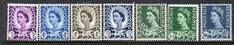 GREAT BRITAIN, 1958/69 QE2 DEFINATIVES WALES 7 MNH - Ongebruikt