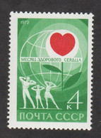 USSR (Russia) - Mi 3985 - World Healthy Heart Month - 1972 - MNH - Nuevos
