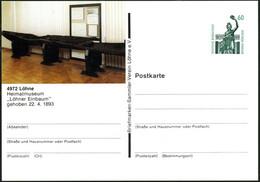"""4972 Löhne 1989 PP 60 Pf. Bavaria , Grün: Prähistor. """"Löhner Einbaum"""" (Heimatmuseum) Ungebr., (Mi.PP 151/30) - FRÜH- & V - Prehistoria"""