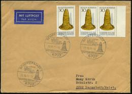 """6707 SCHIFFERSTADT 1/ GOLDENER/ HUT/ AUS DER/ BRONZEZEIT/ KULTKEGEL.. 1977 (22.10.) HWSt = """"Goldener Hut"""", 3x Auf Motivg - Prehistoria"""