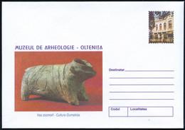 """RUMÄNIEN 2001 2500 L. """"Nationale Archäolog. Museen"""", Kompl. Satz Von 5 Verschiedenen Umschlägen Mit Prähistorischen Arte - Prehistoria"""