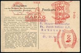 """HAMBURG/ 1/ HAPAG/ MITTELMEERREISEN 1931/ VERGNÜGUNGSDAMPFER """"OCEANA"""" 1931 (15.1.) Seltener AFS 003 Pf + 002 Pf. (2 Abdr - Egiptología"""
