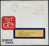 HANNOVER/ 1/ BAHLSEN-KEKS 1934 (7.2.) AFS Auf Reklame-Bf.: TET, LEIBNIZ-KEKS = Alt-ägyptische Hieroglyphe Mit Schlange ( - Egiptología