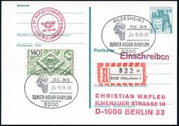 3200 HILDESHEIM 1/ SUMER/ ASSUR/ BABYLON 1978 (24.9.) SSt = Antiker Kopf Mit Geflochtenem Bart + RZ: 3200 Hildesheim 1/  - Egiptología