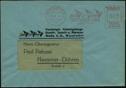 WUNSIEDEL/ GRA-/ NIT/ SYE-/ NIT/ MA-/ RMOR/ ERZEUGNISSE HABEN/ WELTRUF 1944 (24.3.) AFS = 3 Pyramiden , Klar Gest. Motiv - Egiptología