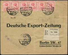 """ÄGYPTEN 1922 (4.1.) 5 M. """" S P H I N X  Von Gizeh"""", Mattrosa, Reine MeF: 6 Stück (2x Unten Mäng.) 1K: + RZ: ALEXANDRIE ( - Egiptología"""