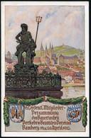 Bamberg/ 18. Verkehrs-Beamten-Vers. 1913 (Apr.) PP 5 Pf.Luitpold, Grün 18. Ordentl. Versammlung Des Bayer. Verkehrs-Beam - Mitología