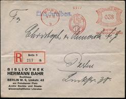 BERLIN W/ 9/ H B../ Buchhaus/ Am Potsdamer Platz 1933 (4.3.) AFS 038 Pf. =  J U S T I T I A  Mit Verbundenen Augen, Schw - Mitología