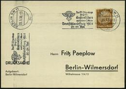 BERLIN SW 11/ Au/ NSFK/ Das NS-Fliegerkorps/ ..Deutschlandflug../ 22.-29.Mai 1938 (Mai) Seltener MWSt = Ikarus (= NSFK-L - Mitología