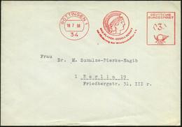 34 GÖTTINGEN 1/ MAX-PLANCK-GESELLSCHAFT/ Zur Förderung D.Wissenschaften E.V. 1968 (18.7.) AFS = Kopf Der Pallas Athene ( - Mitología