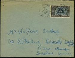 """TUNESIEN 1948 (27.4.) 10 F. """"Triumph Neptuns Und Amphitrite"""", EF = Mosaik Im Bardo-Museum , Sauber Gest. Übersee-Bf. (Mi - Archaeology"""