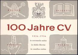 (13b) München 1956 (27.7.) PP 10 Pf. + 25 Pf. Heuss: 100 Jahre CV/..RELIGIO / SCIENTIA / AMICITIA..in Necessariis Unitas - Other