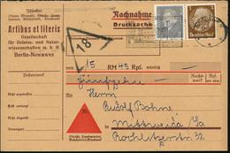 "Nowawes 1933 (10.8.) 20 Pf. Ebert U. 3 Pf. Hindenburg, Je Mit Firmenlochung: ""A L"" = A Rtibus Et Literis (Gesellschaft F - Other"