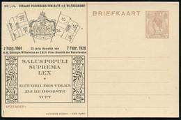 NIEDERLANDE 1926 (7.2.) PP 7 1/2 C. Wilhelmina, Braun: SALUS POPULI SUPREMA LEX (Das Wohlergehen Des Volkes Ist Höchstes - Other