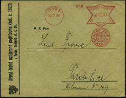 """TSCHECHOSLOWAKEI 1929 (10.7.) AFS: PRAHA 4/ASSECURARE/NECESSE EST/""""1827."""" = """"Versichern Ist Notwendig"""" , Klar Gest. Firm - Other"""