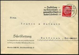 BERLIN C 2/ Du/ -Ausstellung-/ Der Lebensbaum Im/ Germanischen Brauchtum 1935 (Mai) Seltener MWSt , Klar Auf Bedarfsbrie - Archaeology