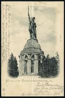"Detmold 1900 (23.9.) PP 5 Pf. Germania ""1900"", Grün: Gruss Vom Hermannsdenkmal (Hermann-Denkmal) = Erinnerung An Die Var - Archaeology"