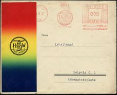 LEIPZIG/ W 31/ H.W./ WILHELMFARBE../ Hermann Wilhelm/ Farbenfabrik 1935 (Okt.) AFS = Germane Mit Schwert U. Schild , Mot - Archaeology