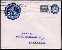 "DÄNEMARK 1921 (22.12.) PU 20 Öre, Krone/Ziffer, Blau:  ..MASKINFABRIK JENSEN & OLSEN../ TELEGRAMADR. ""THOR"" (Sternbild,  - Archaeology"