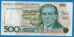 BRASIL 500 Cruzados  ND (1988) # A752907...A P#212d Heitor Villa Lobos - Brazil