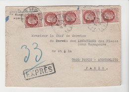 EXPRESS, LSC De Melun De 1944 Pour Paris TB - 1921-1960: Modern Period