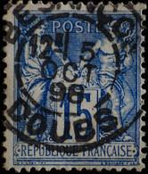 -Sage N°90. Type II  Ob  ( CAD  ) BESANCON 1898. - 1876-1898 Sage (Type II)