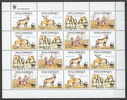 NW442 2010 MOZAMBIQUE WWF ANTELOPES WILD ANIMALS FAUNA #3658-3661 FULL SH MNH - Ungebraucht