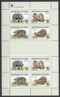 NW451 2009 GUINEA WWF WILD BOARS ANIMALS FAUNA #4286-4289 KB MNH - Ungebraucht