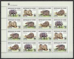 NW452 2009 GUINEA WWF WILD BOARS ANIMALS FAUNA #4286-4289 FULL SH MNH - Ungebraucht