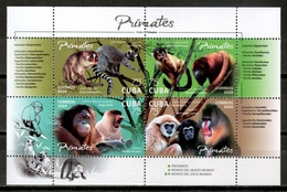 Cuba 2020 / Animals Mammals Monkeys MNH Fauna Mamíferos Monos Säugetiere Affen / Cu18111  C4-11 - Monkeys