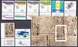 Israel - Jahrgang 1979 - Komplett Postfrisch MNH Mit Tab Incl. Block 18 - Nuevos (con Tab)