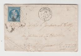 BLANQUEFORT: PC 407 + CàD Type 15 / LSC De 1861 Pour St Aignan - 1849-1876: Classic Period