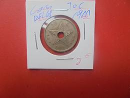CONGO BELGE 20 Centimes 1911 (A.15) - 1910-1934: Albert I
