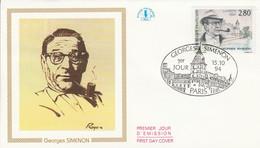 FDC 1994 GEORGES SIMENON - 1990-1999
