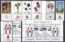 Israel - Jahrgang 1980 - Komplett Postfrisch MNH Mit Tab Incl. Block 19 + 20 - Nuevos (con Tab)