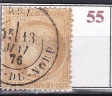 France Timbre De 1873 Cérés YT 55 Oblitéré - 1871-1875 Ceres