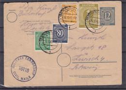 Allemagne - Zone Anglo Américaine - Carte Postale De 1946 - Entier Postal - Oblit Hannover - Avec Censure - American/British Zone