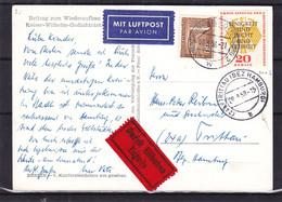 Berlin - Carte Postale Exprès De 1958 - Oblit Berli Charlotten Burg - Exp Vers Trittau - Cachet Trittau Bei Hamburg - Covers & Documents