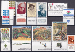 Israel - Jahrgang 1982 - Komplett Postfrisch MNH Mit Tab Incl. Block 21 + 22 - Nuevos (con Tab)